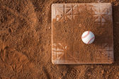 Baseball on a Base — Stock Photo