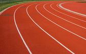 Curva di una pista da corsa — Foto Stock