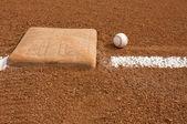 Baseball near the base — Stock Photo