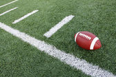 Football and yard lines — Stock Photo