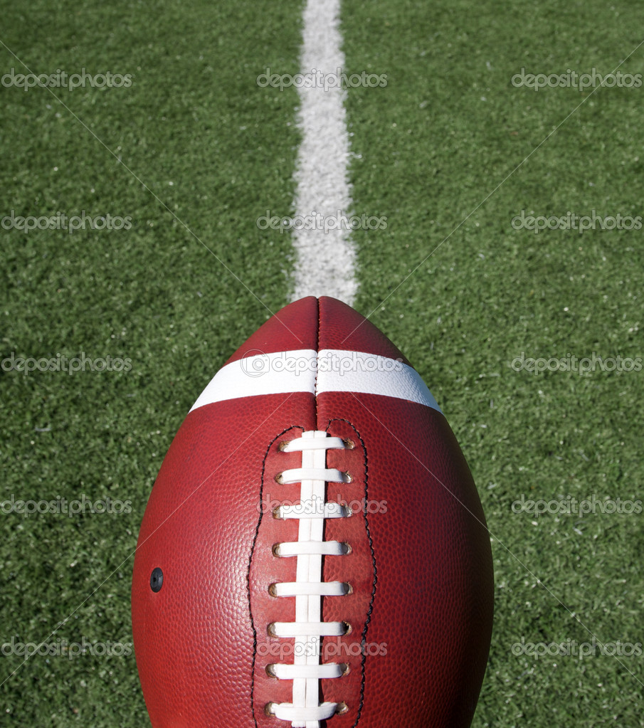 Football with Field Beyond — Stock Photo © 33ft #6923838