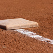 Stock Photo: Baseball Third Base