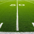 American Football Field Fifty Yard Line — Stock Photo #7269356