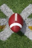 American Football teed up for kickoff — Stock Photo