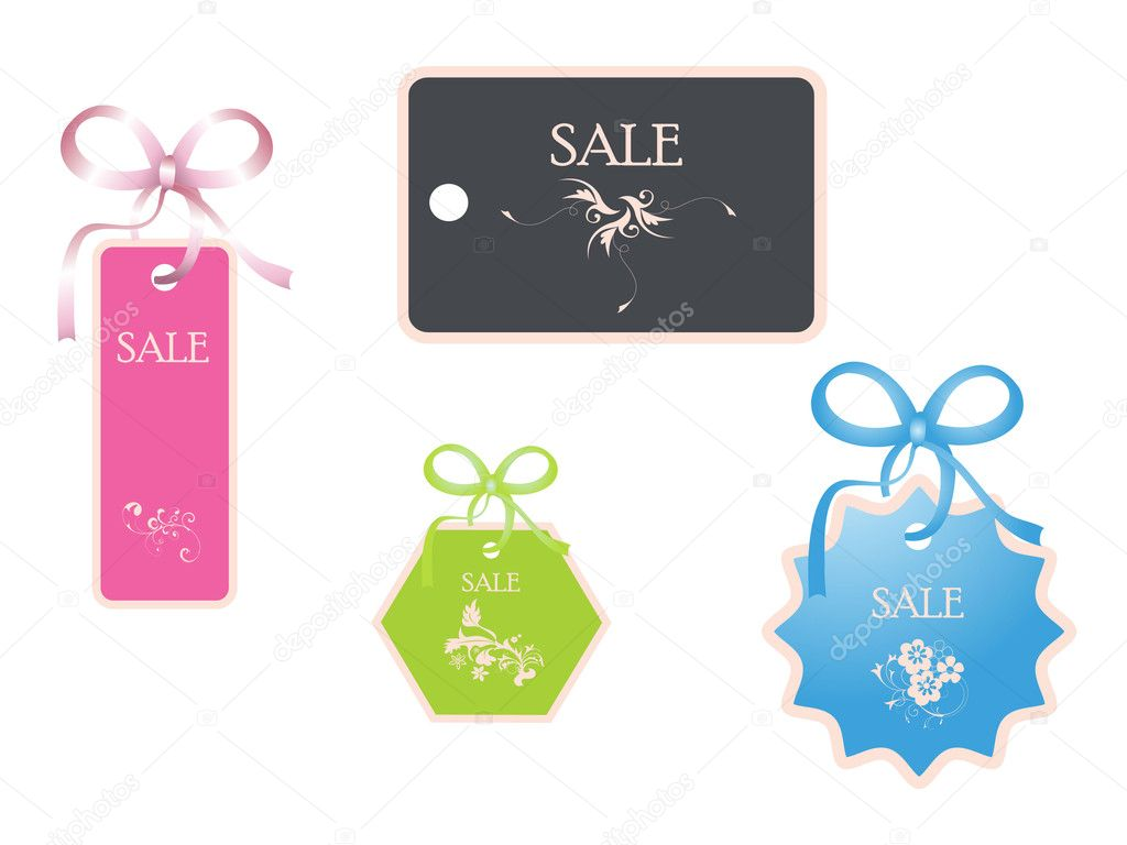 Discount card sales with flowers — Stock Vector #6919367
