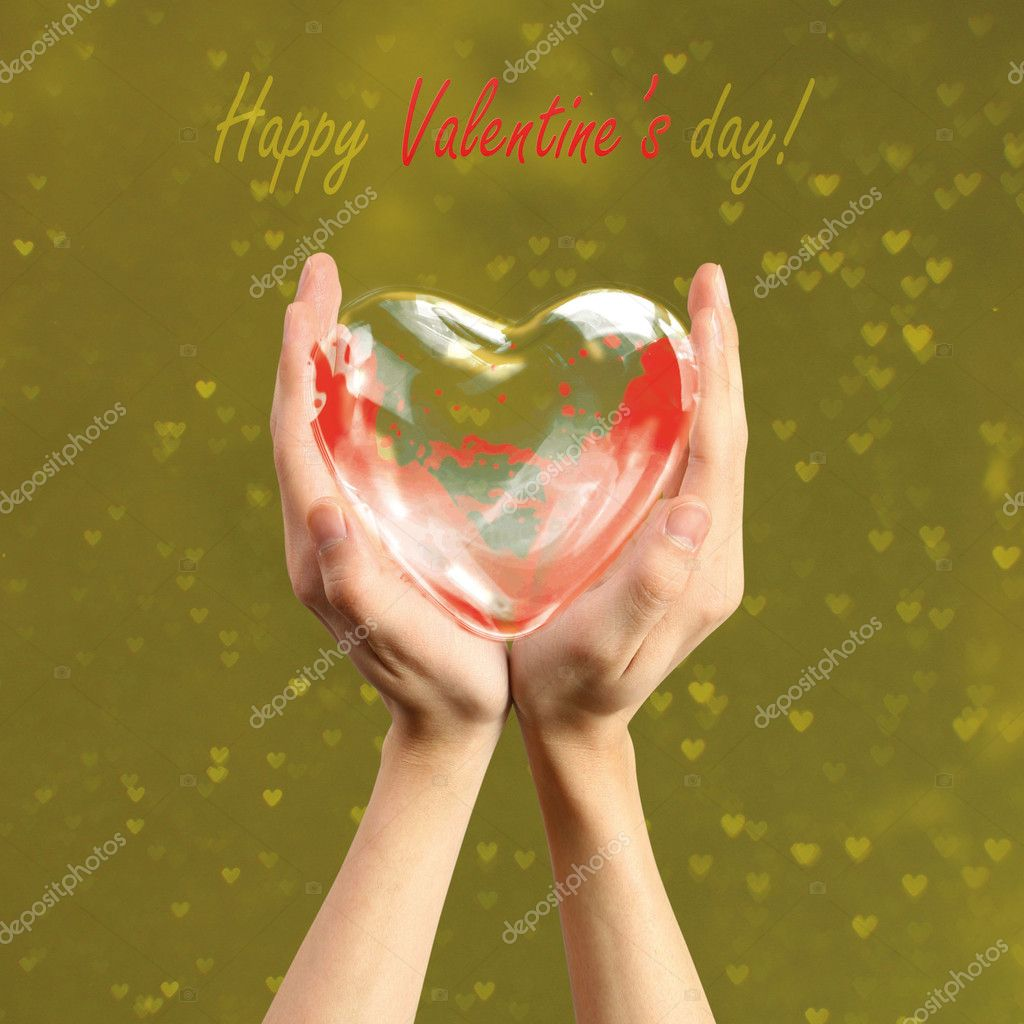 Card by the Valentine's day — Stock Photo #6820185