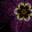 Stock Photo: Dark fractal flower