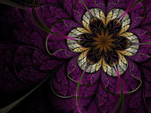 Dark fractal flower — Stock Photo