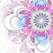 Stock Photo: Colorful fractal flower