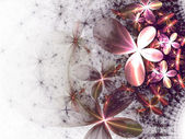 Fractal flowers — Stock Photo