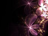 Shiny fractal flowers — Stock Photo