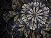 Wintry fractal flower — 图库照片