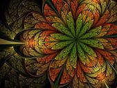 Wild fractal bloem — Stockfoto