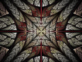 Abstract fractal cross — Stock Photo