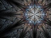 Abstrakt fraktal snöflinga — Stockfoto