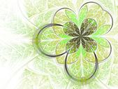 Folha verde fractal — Foto Stock