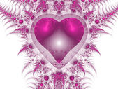 Fractal heart — Stock Photo
