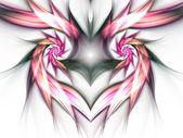 Feathery heart — Stock Photo
