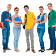 Happy smiling students standing together — Stock Photo #6841603