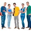 Stock Photo: Happy smiling students standing together