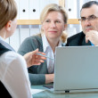 Couple meeting with financial advisor - Foto Stock