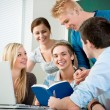 Young students studying together — Stock Photo