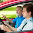 Learning to drive — Stockfoto