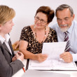 Senior couple meeting with financial advisor — Stock Photo #6844037