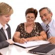 Senior couple meeting with financial advisor — Stock Photo #6844141