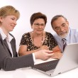 Senior couple meeting with financial advisor — Stock Photo #6844199