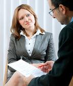 Job interview — Stock Photo