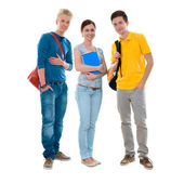Group of high-school students — Stock Photo