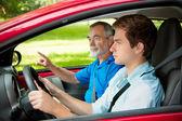 Lära sig att köra — Stockfoto