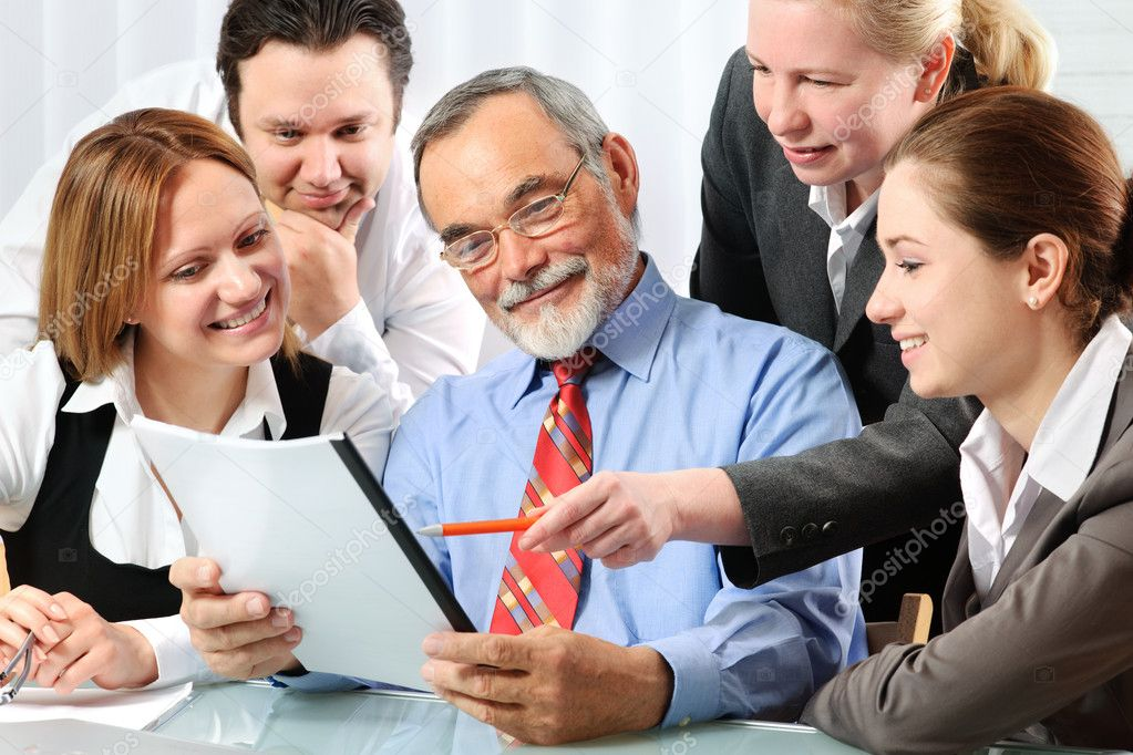 Group of business working in the office — Stock Photo #6840921
