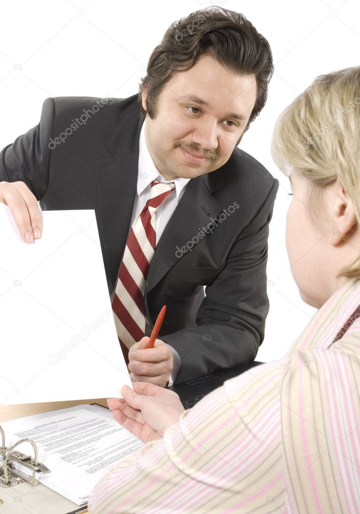 Woman talking to Insurance Agent  — Stock Photo #6841205