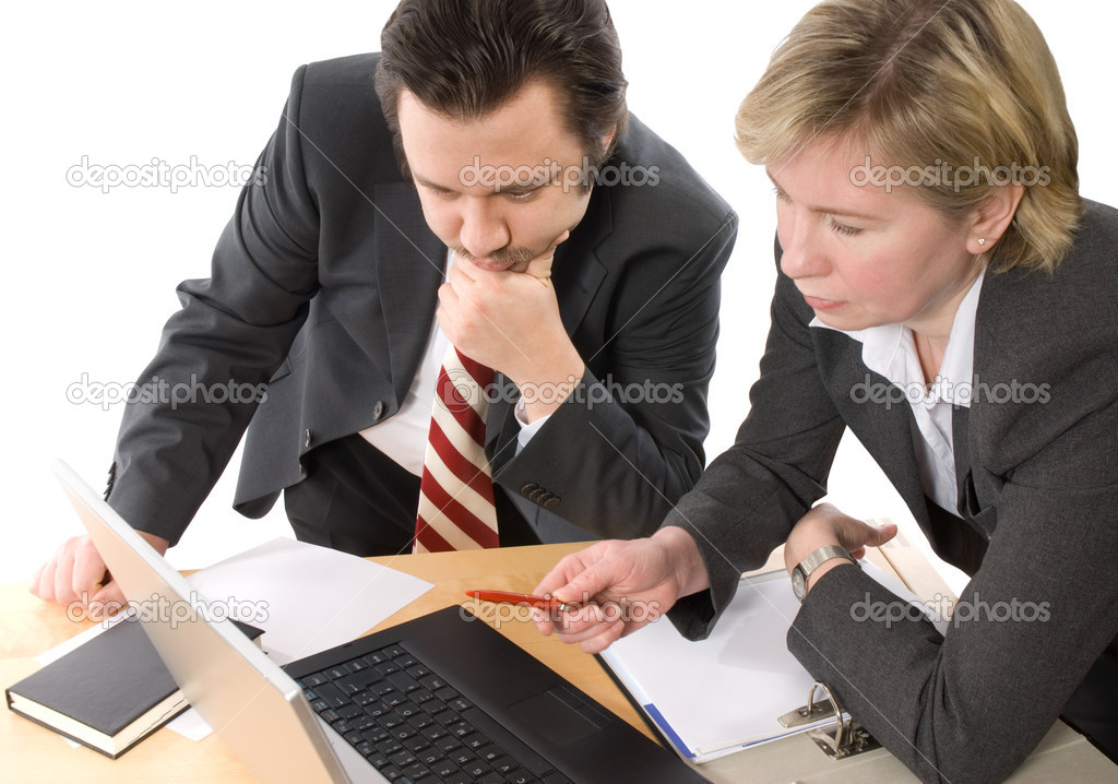 Two businesspeople working at office  — Stock Photo #6841491