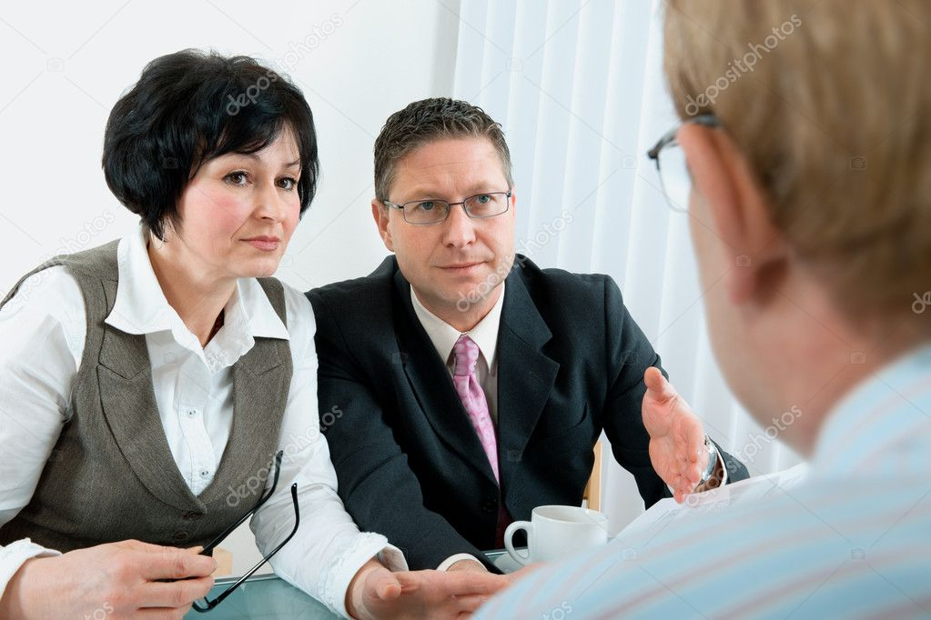 Senior couple meeting with agent or financial advisor  — Stock Photo #6841893