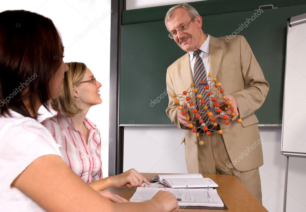 University professor giving a lecture  — Stock Photo #6843258