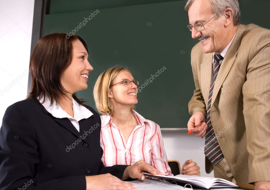 University professor giving a lecture  — Stock Photo #6843514