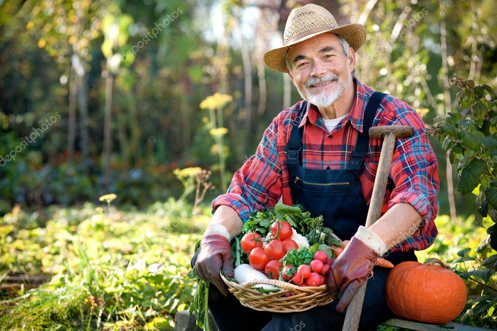 Пожилые на ферме