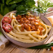 Macaroni bolognese - Stock Photo