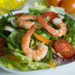 Fresh salad with shrimp - Stock Photo