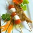 Chicken skewer — Stock Photo