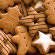 Spice cookies as christmas background — Stok fotoğraf
