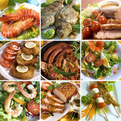 Collage de alimentos — Foto de Stock