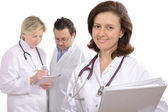 Medical professionals with stethoscopes — Stock Photo