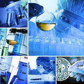 Laboratorium collage — Stockfoto