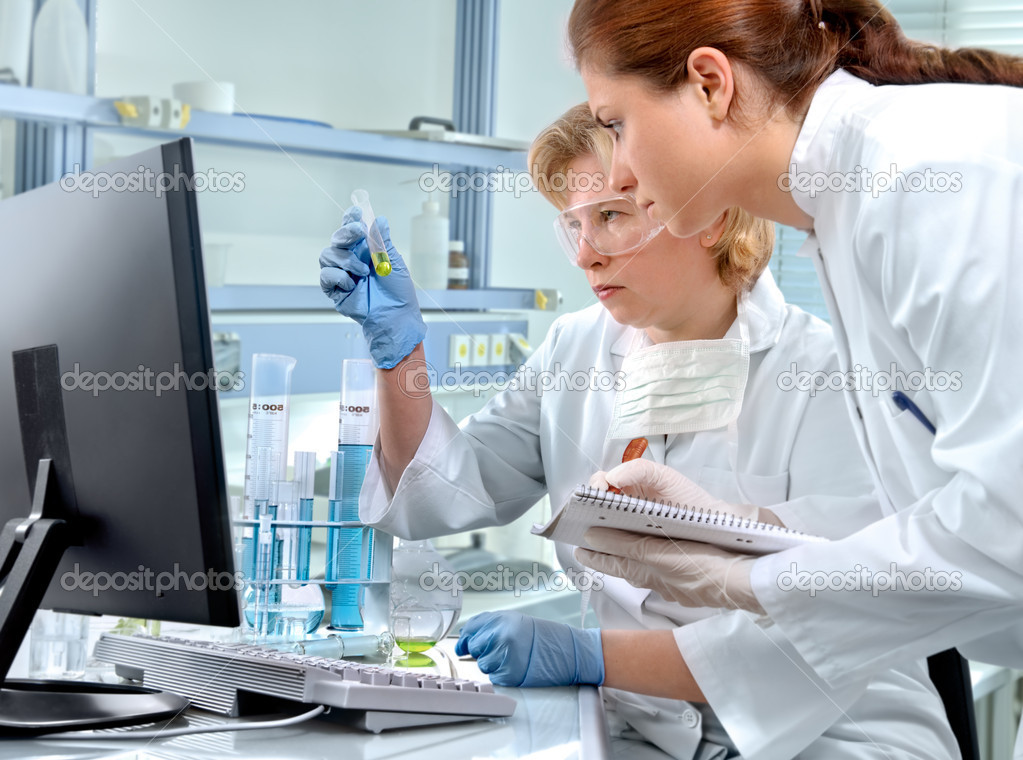 Group of scientists working at the laboratory — Stock Photo #6857634