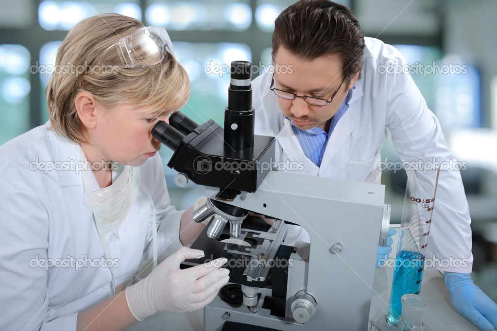 Group of scientists working at the laboratory  — Stock Photo #6857841
