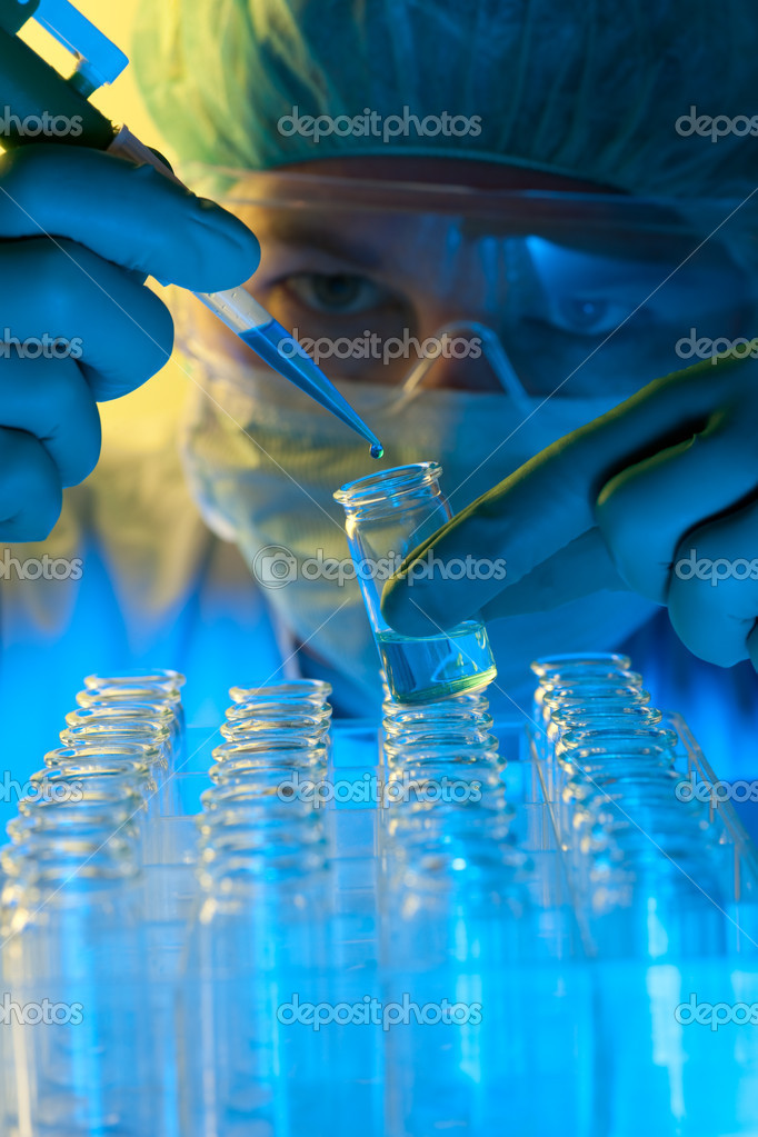 Laboratory technician at the work  — Stock Photo #6858361